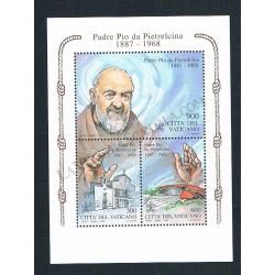 1999 - Padre Pio da Pietrelcina - BLOCCO FOGLIETTO