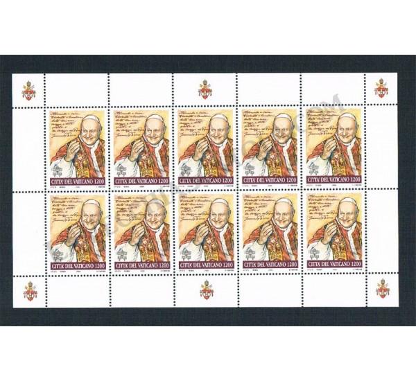 2000 - Papa Giovanni XXIII - Minifoglio Sottofacciale
