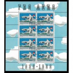 1988 Svizzera Posta Aerea Fondazione Pro Aereo Annullato