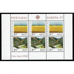 1977 Portogallo emissione CEPT Paesaggi minifoglio MNH/**