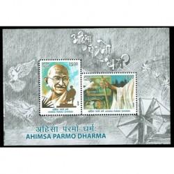 2019 India Ahimsa Paramo Dharma Gandhi - foglietto MNH/**