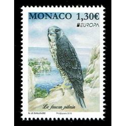 2019 Monaco Emissione Europa Uccelli Falco Pellegrino