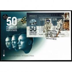 2019 Bosnia 50° anniversario primo uomo sulla Luna FDC