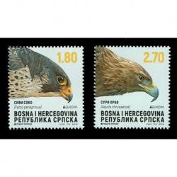 2019 Bosnia Emissione Europa Posteurop - Uccelli nazionali
