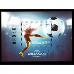 2016 Bosnia Europei di Calcio - Euro2016 foglietto