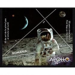 2019 Romania 50° anniversario primo uomo sulla Luna