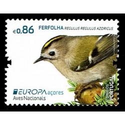 2019 Isole Azzorre Emissione Europa Uccelli