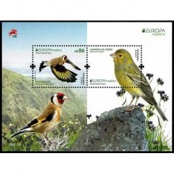 2019 Madeira Emissione Europa Uccelli Foglietto
