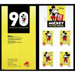2019 Portogallo Mickey Mouse Disney 90° anniversario