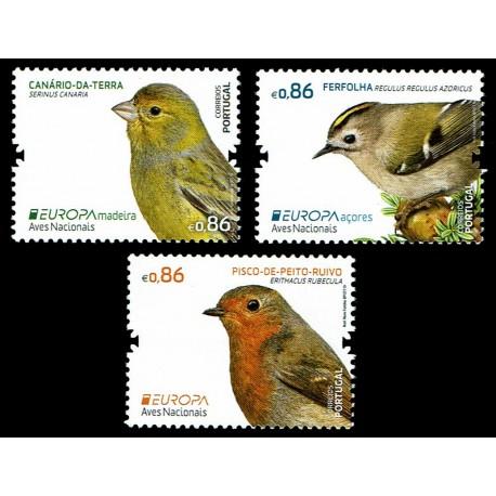 2019 Portogallo Azorre Madeira Emissione Europa Uccelli