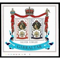 1977 Gibilterra 25° del Regno di Elisabetta II