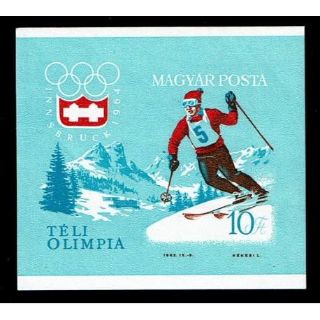 1964 Ungheria Giochi olimpici Innsbruck non dentellato