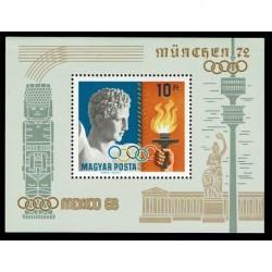 1969 Ungheria Olimpiadi Città del Messico foglietto