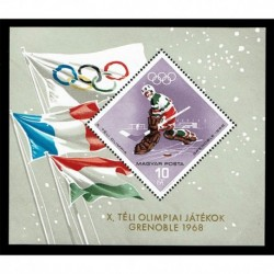 1967 Ungheria Olimpiadi invernali di Grenoble foglietto