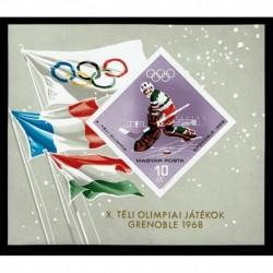 1967 Ungheria Olimpiadi invernali Grenoble NON Dentellato