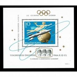 1964 Ungheria Woschod missioni spaziali foglietto