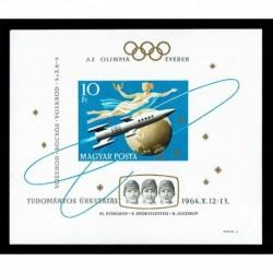 1964 Ungheria Woschod missioni spaziali NON Dentellato