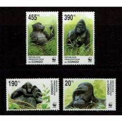 1992 Congo Gorilla tematica WWF