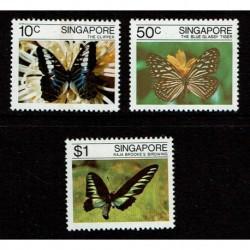 1982 Singapore serie tematica Farfalle