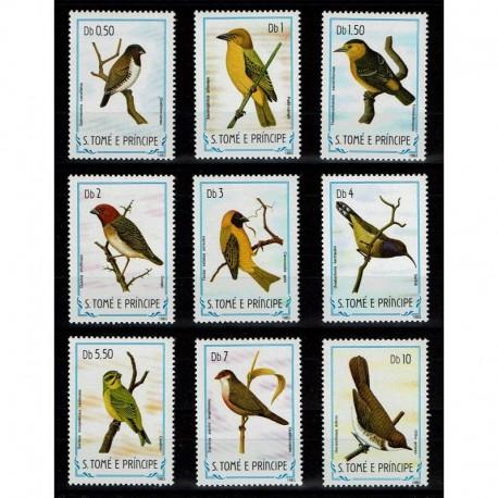 1983 S.Tomé e Príncipe tematica uccelli I°serie