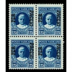 1931 Vaticano Pacchi Postali 1,25 lire Sas.9 quartina MNH/**