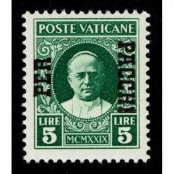 1931 Vaticano Pacchi Postali 5 lire Sas.12 MNH/**