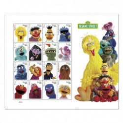 2019 Stati Uniti foglietto Sesame Street