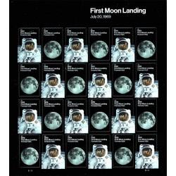 2019 Stati Uniti 50° anniversario primo uomo sulla Luna Minifoglio