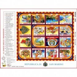 2003 San Marino Natale foglietto gioco delle tradizioni Unusual