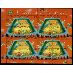 2003 San Marino Arte dei burattini Minifoglio