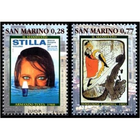 2003 San Marino emissione Europa - Il Manifesto