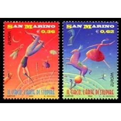 2002 San Marino emissione Europa tematica Circo