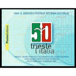 2004 Libretto restituzione città Trieste all'Italia