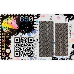 2019 Austria Crypto Stamps Francobollo autenticato su blockchain Unusual