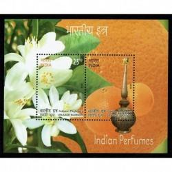 2019 India foglietto al profumo di arancio - unusual stamps