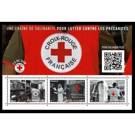 2019 Francia Croce Rossa con QRcode foglietto