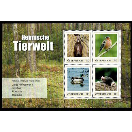 2019 Austria fauna selvatica domestica foglietto