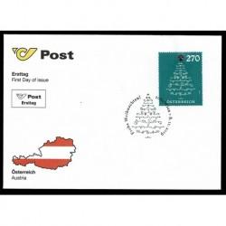 2019 Austria Natale Unusual Stamp Francobollo con Crystal FDC