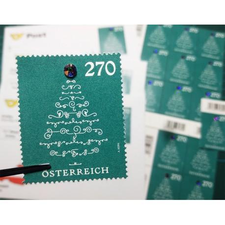2019 Austria Natale Unusual Stamp Francobollo con Cristallo