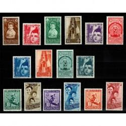 1937 Regno - Colonie Estive completa con Posta Aerea 16val. MNH/**