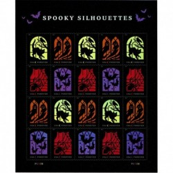 2019 Stati Uniti Spooky Silhouettes Halloween minifoglio