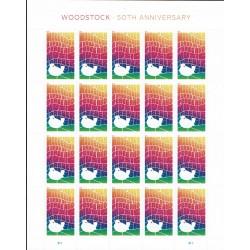 2019 Stati Uniti 50° anniversario del concerto di Woodstock - unusual stamps