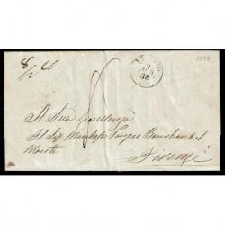 1858 Prefilatelica da Viterbo/Acquapendente/Bagnoregio a Firenze con testo