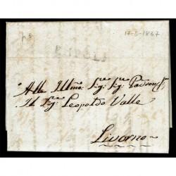 1837 Prefilatelica da Empoli a Livorno con testo