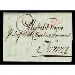 1810 Piego prefilatelico periodo napoleonico da Pisa a Firenze