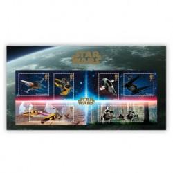 2019 Gran Bretagna Star Wars foglietto navicelle spaziali