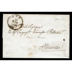 1853 Prefilatelica con testo da Pescia a Firenze