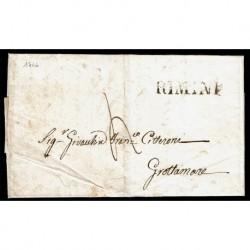 1846 Prefilatelica con testo da Rimini a Grottamare