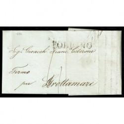 1836 Prefilatelica da Foligno a Grottamare con testo