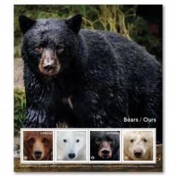 2019 Canada foglietto Orsi - tematica animali